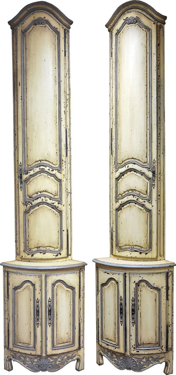 Pair of French Corner Cabinets | Dream Castle | Corner bar ... on Corner Sconce Shelf Cabinet id=54293