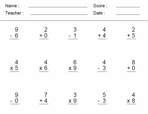 Third Grade Math Practice Worksheets - Delibertad
