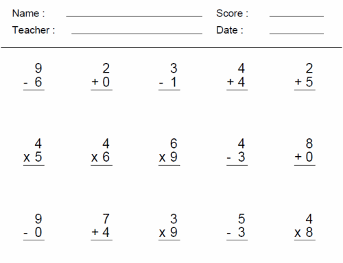 Math Worksheets For 3rd Grade – 4th Grade Math Worksheets