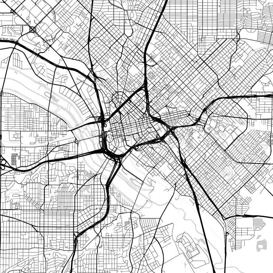 Map of Dallas, Texas | Maps Vector Downloads | Map, Map vector und City