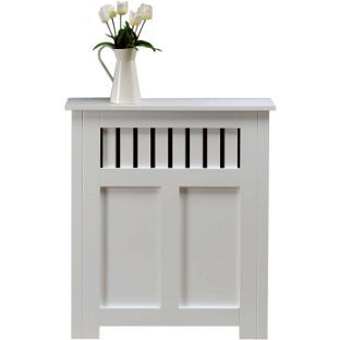 New Hampshire MDF Radiator Cabinet - White - 90x80cm from Homebase.co.uk