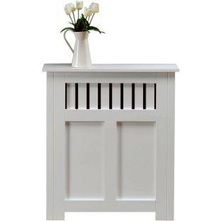 New Hampshire MDF Radiator Cabinet - White - 90x80cm from Homebase.co.uk