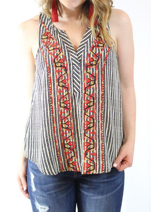 Flowy Embroidered Top
