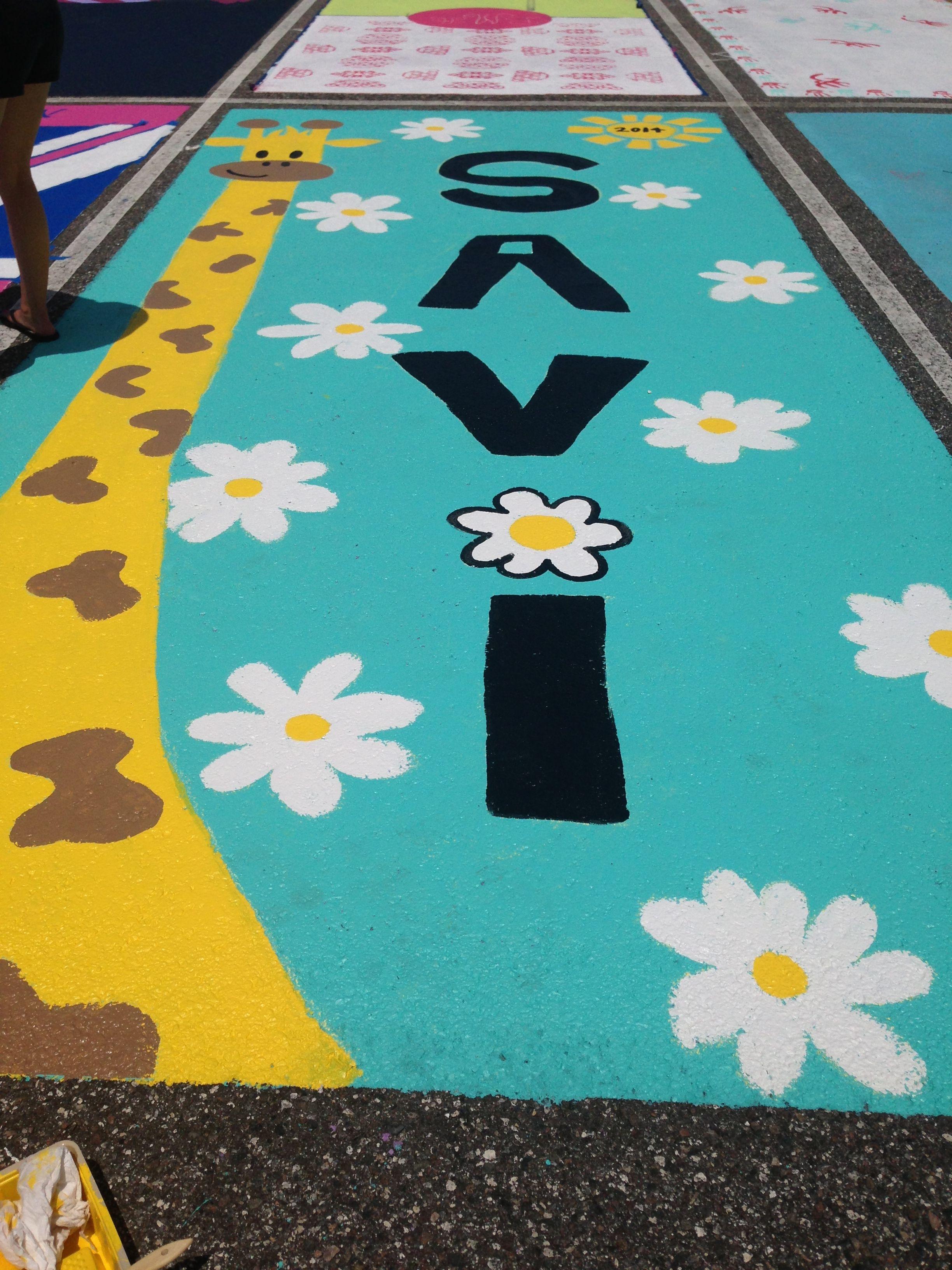 My senior parking spot. 2014 (: