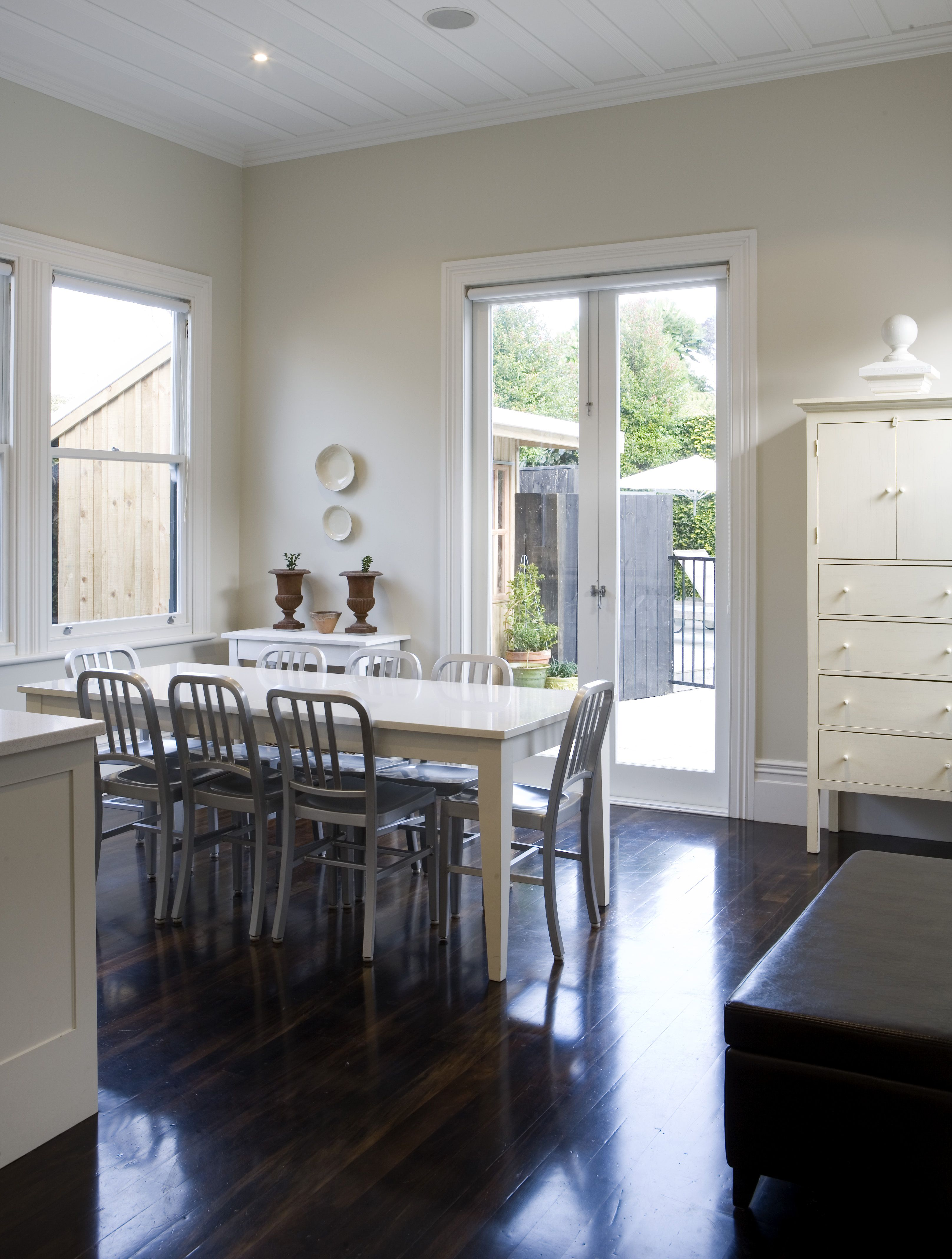 Resene ecru white walls with resene black white trims