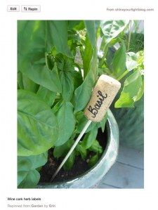 Wine cork plant tags