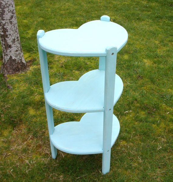 Turquoise Standing Wood Heart Shaped Shelf Side By ShabbyNChic, $64.00