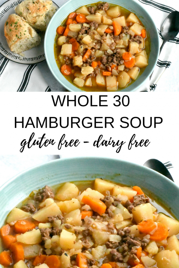 Whole30 Hamburger Soup - Living Freely Gluten Free -  This Whole 30 hamburger soup recipe is our favorite easy instant pot recipe for whole 30. It is hea - #beefrecipes #FREE #Freely #gluten #Hamburger #living #recipesvideos #saladrecipes #shrimprecipes #soup #Whole30