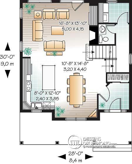 Idée plan Planos Pinterest - idee de plan de maison