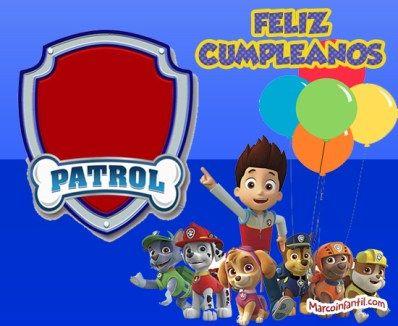 Cumpleaños Paw Patrol Imagenes Imprimibles Paw Patrol Para