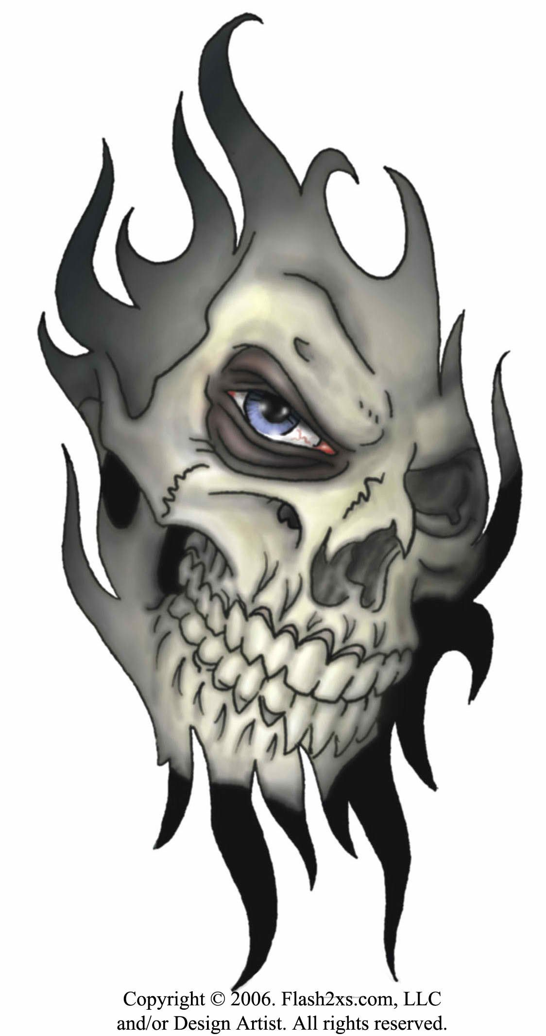 Deltoid Tattoo Evil Skull Tattoo Tribal Skull Skull Tattoo Design