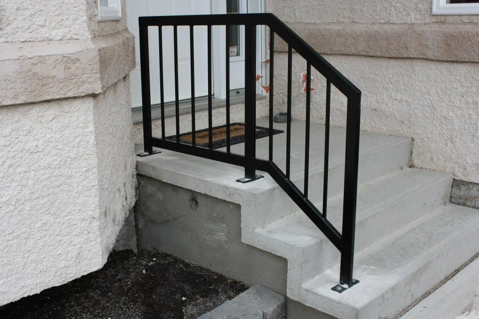 Pin By Shana Washington On Gates Outdoor Stair Railing Exterior | Handrails For Front Steps | Small House | Granite | Easy | Cast Iron | Wrought Iron