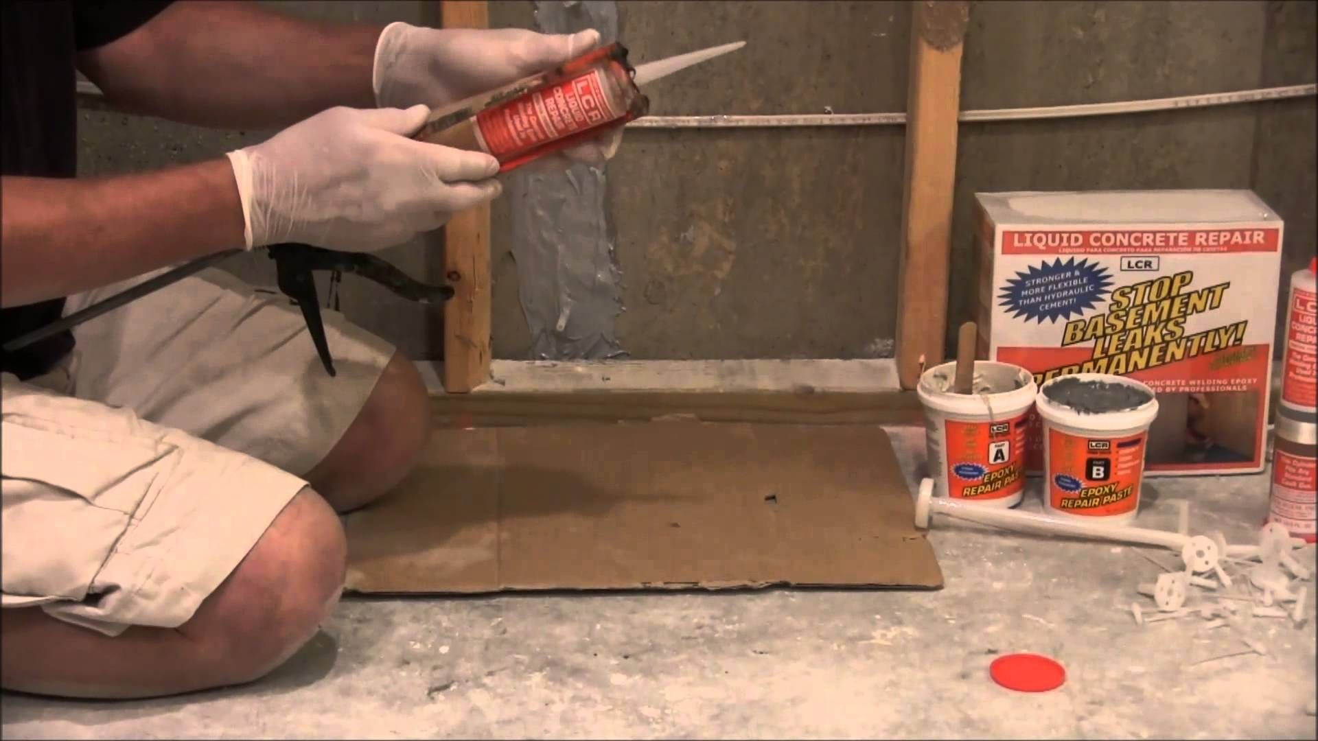 Cracked foundation repair with lcr repair kit