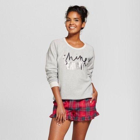 43a00a58ba Xhilaration Women s Shine Bright 4pc Gifting Pajama Set Almond Cream ...
