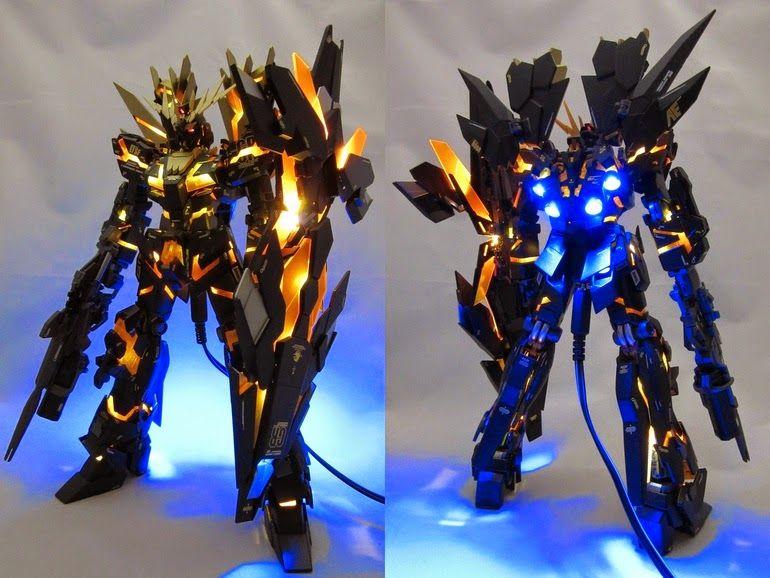 Gundam Guy Mg 1 100 Banshee Norn Custom Build W Led Gundam
