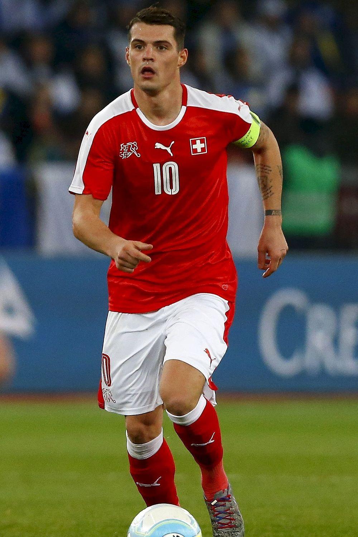 Soccer Granit Xhaka in action for Switzerland 1000—1500
