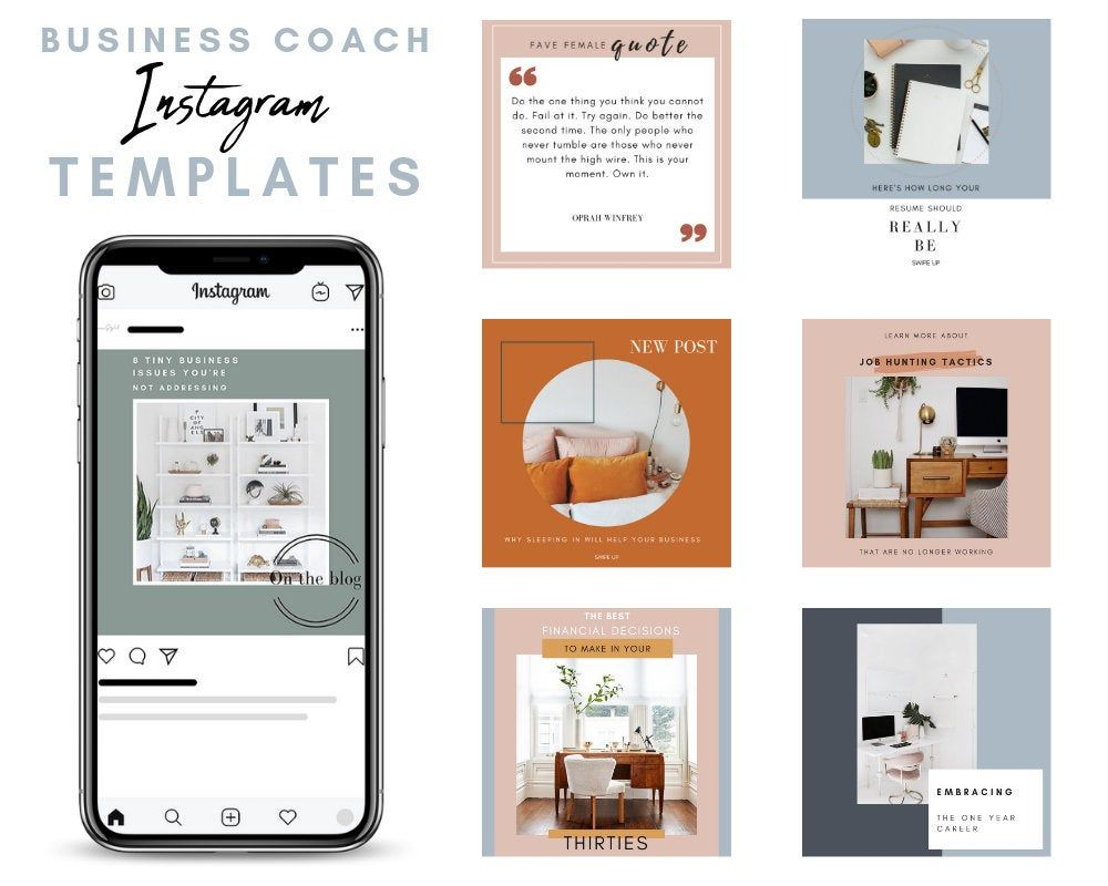 canva business instagram templates coach instagram. Black Bedroom Furniture Sets. Home Design Ideas