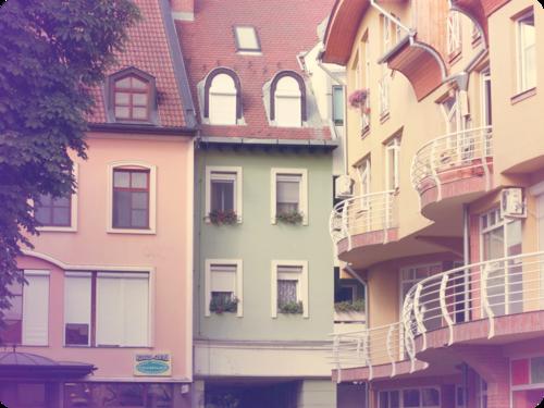Pastel pastel pastel houses building photography