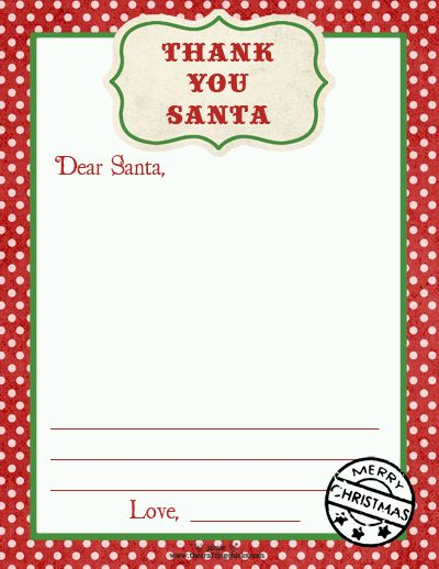 Thank You Santa Stationery Cookies For Santa Tags Free Downloads Christmas Printables Santa Tag Christmas Kindergarten