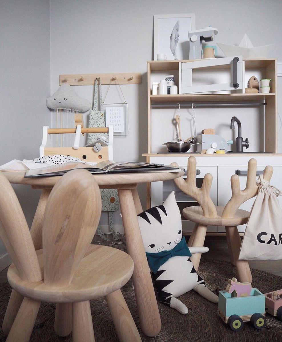 Osta Minitude Nordic Hirvi Tuoli Puu Jollyroom Kinder Tisch Und Stuhle Kuchentisch Und Stuhle Babyzimmer Dekor