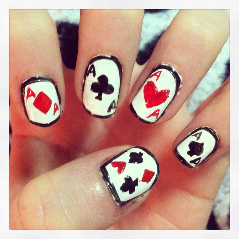 Playing cards nail art | Nail art | Pinterest | Playing cards