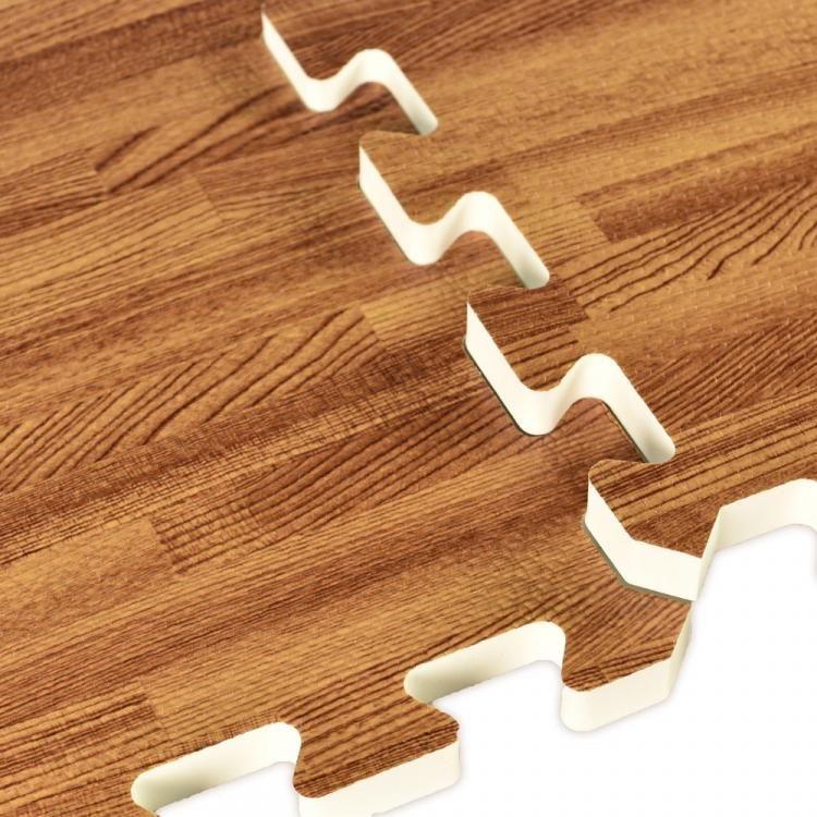 Faux Hardwood Floor Interlocking Foam Tiles Hard Wood Flooring