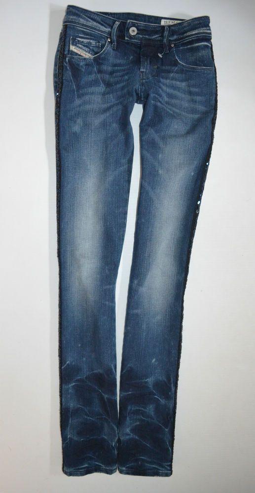 6db59a2c NEW Ladies DIESEL NEVY 008U0 stretch Taper SKINNY JEANS woman size W24 L34  uk 6 .