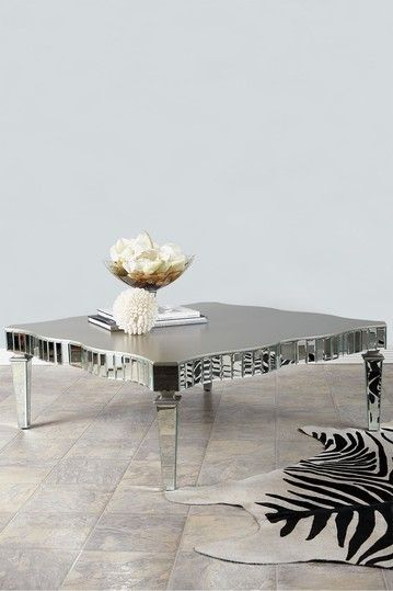 Statements By J Amelie Mirrored Coffee Table Coffee Table
