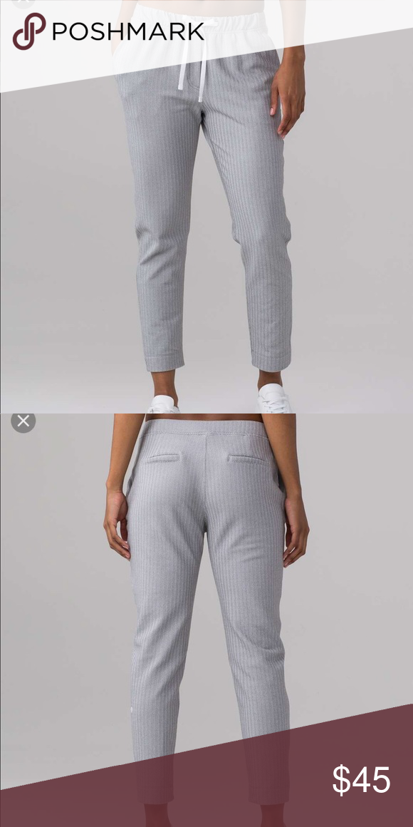 9dac3b02b Lululemon Jet Crop Slim Sz 4 Heathered herringbone grey. Size 4 brand new  with tags. To and from pant