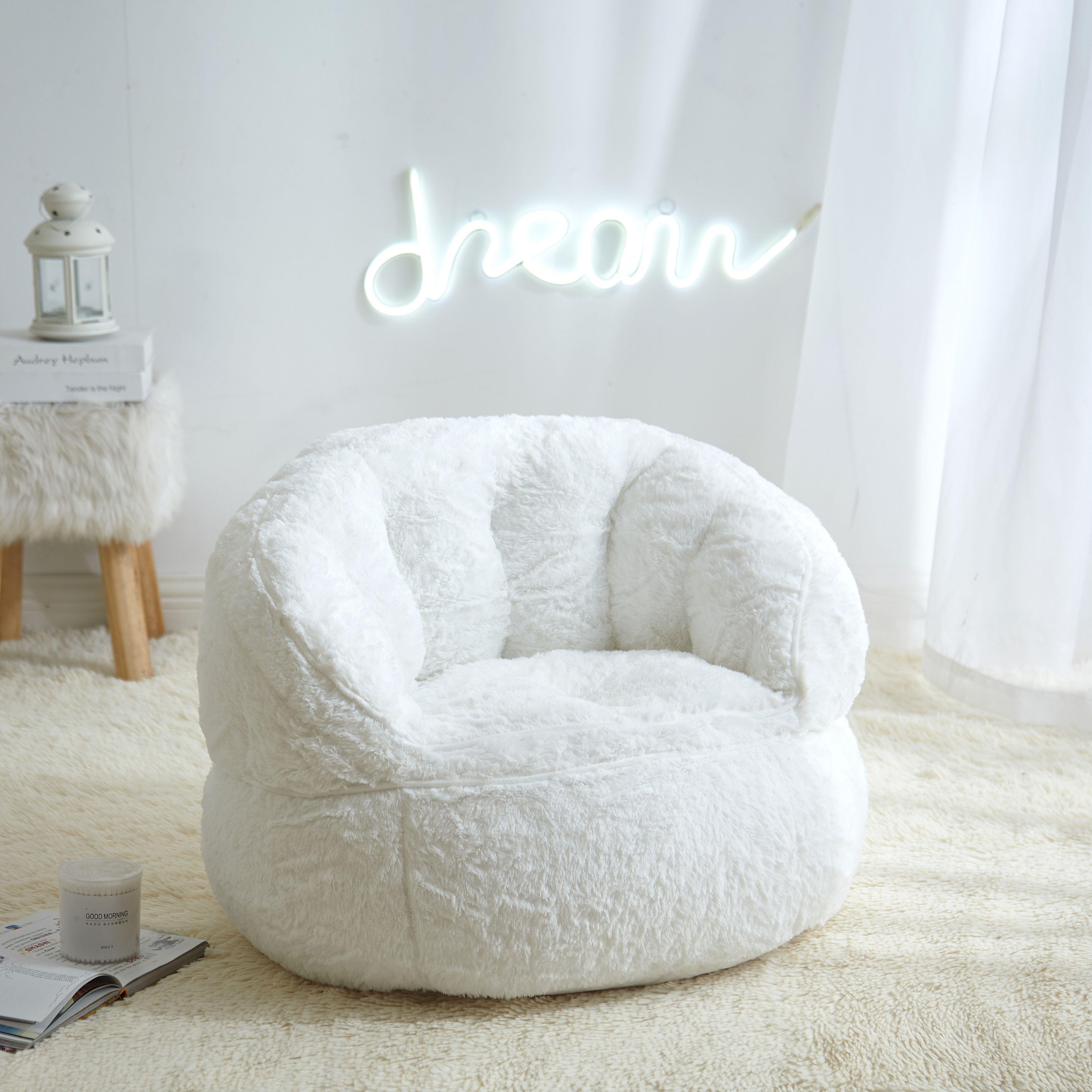 Urban Shop Faux Fur Kids Size Bean Bag Chair Multiple Colors Walmart Com In 2020 Bean Bag Chair Pvc Furniture Plans Bean Bag Chair Kids