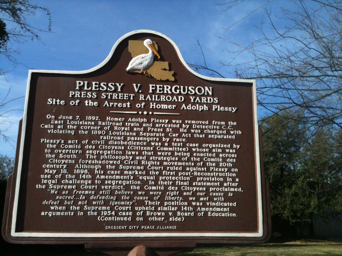 1986 Separate But Equal Plessy V Ferguson The Great Migration Separate But Equal African American History