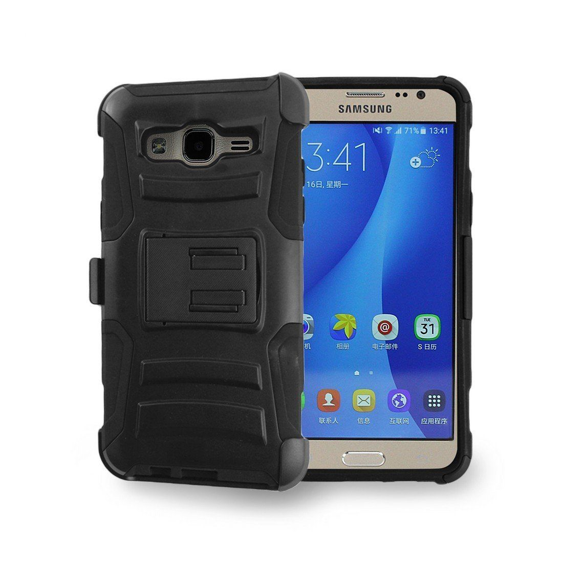 new concept 017a3 cf0cd Spots8 Samsung Galaxy On5 SM-G550T Case Hybrid PC Silicone Build-in ...