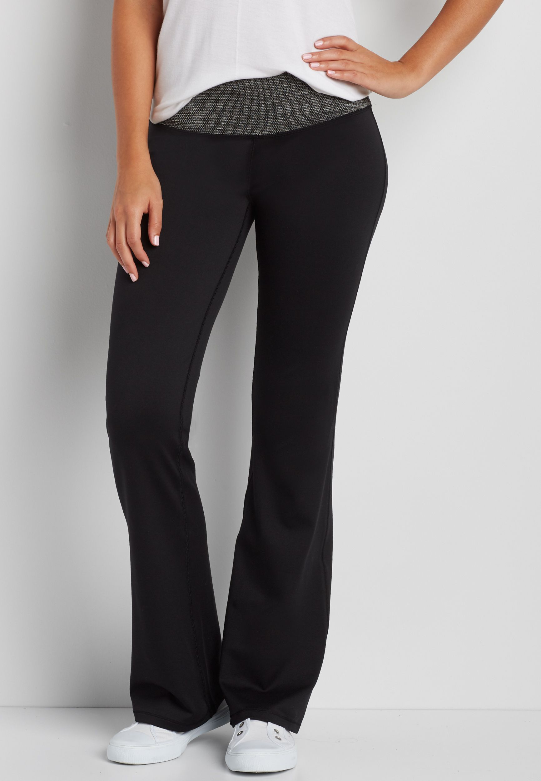 yoga pants with textured waistband | Clothes, Pants