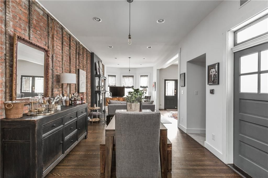 Open Concept Remodel Exposed Brick Townhouse Rowhouse Downtown Indy Exposed Brick Remodel Townhouse Open concept row house