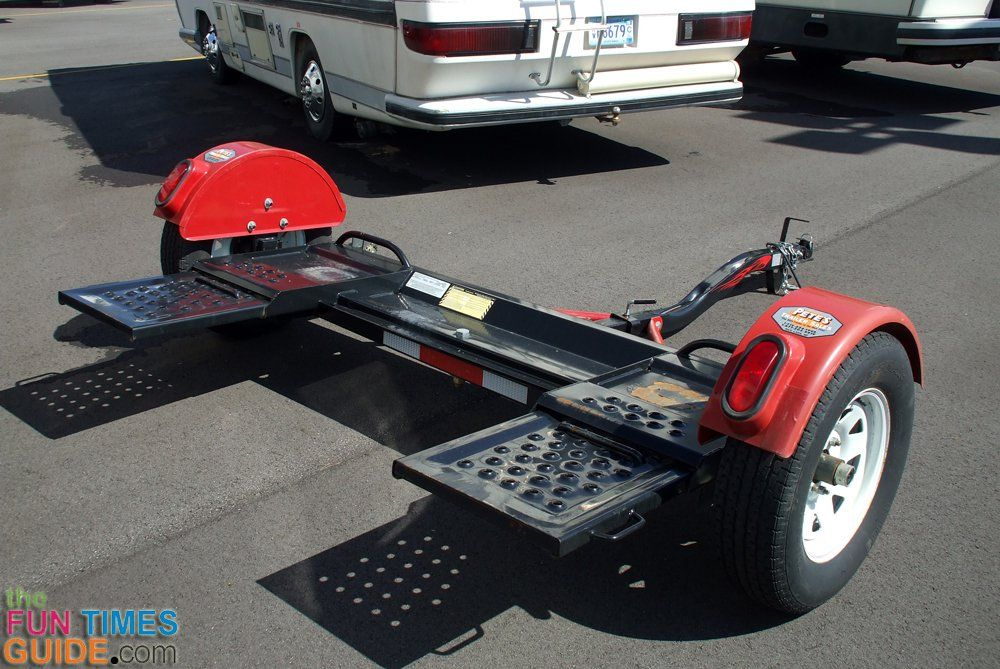 Choosing The Right Rv Tow Dolly So You Can Tow A Car Behind Your Motorhome Towing Vehicle Motorhome Best Motorhomes