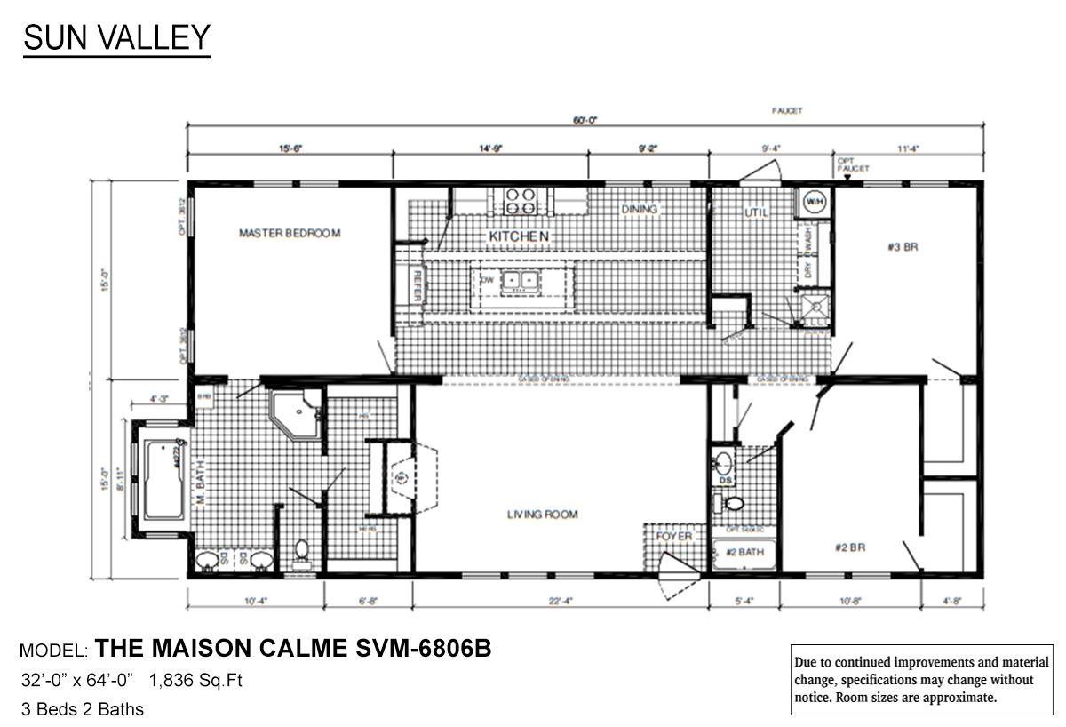 Sun Valley Series Maison Calme Svm 6806b Modular Home Floor Plans Modular Homes House Floor Plans