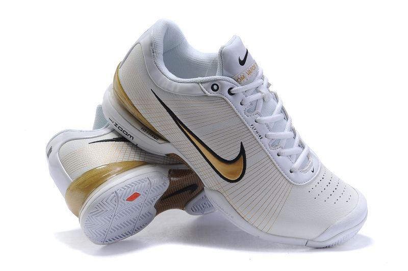 half off 8ba5a 3d16d Nike Air Zoom Vapor VI Tour Men s Tennis Shoes White Metallic Gold