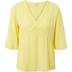 Photo of Tom Tailor Denim Women's Tunic with tape details, yellow, plain, size M Tom TailorTom Tailor