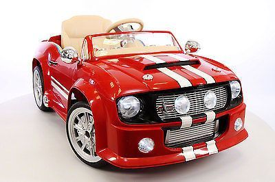 mustang shelby gt style 12v kids rideon car mp3 battery powered wheels rc remote
