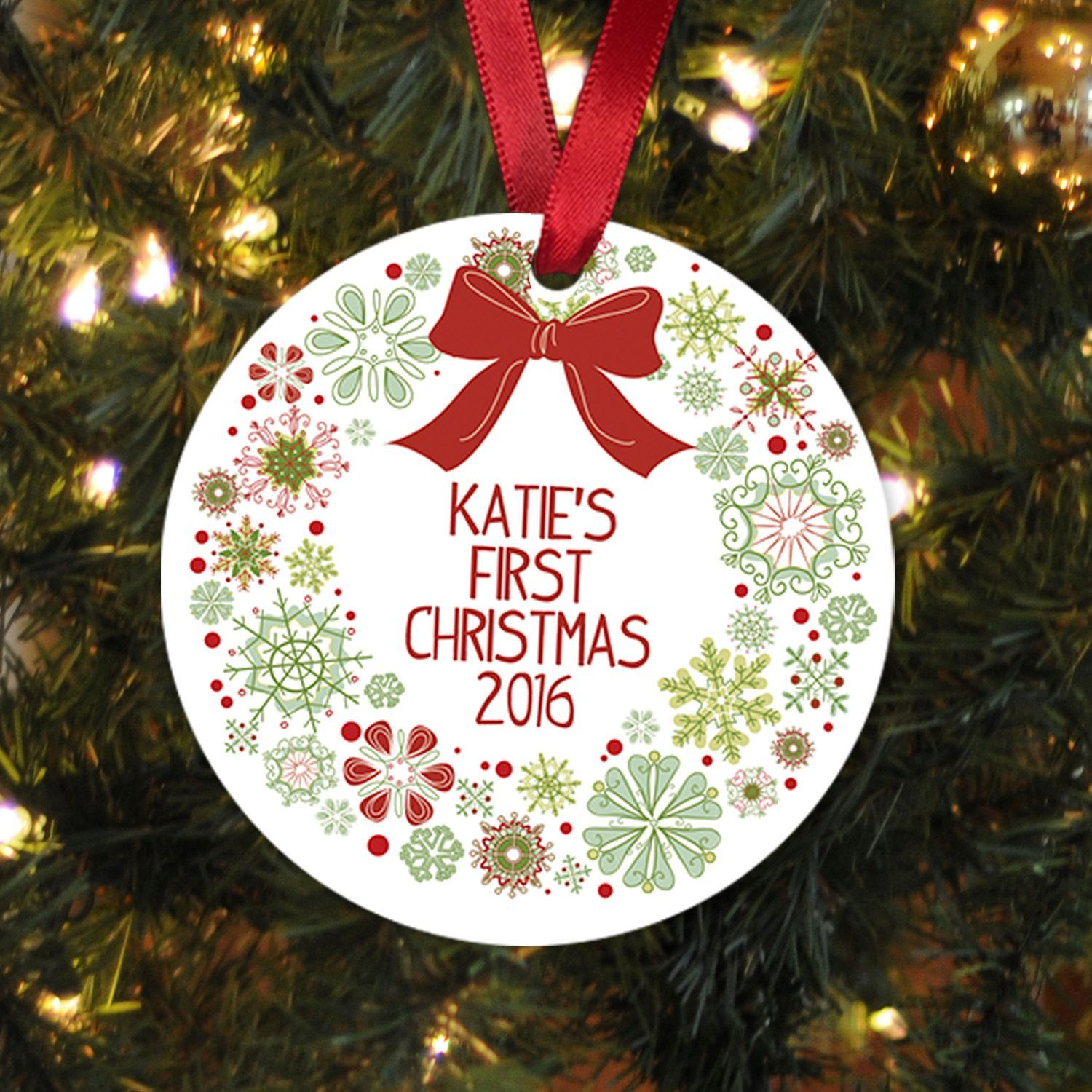 New baby christmas ornament - Baby S First Christmas Ornament Personalized Christmas Ornament Baby Christmas Ornament New Baby Gift