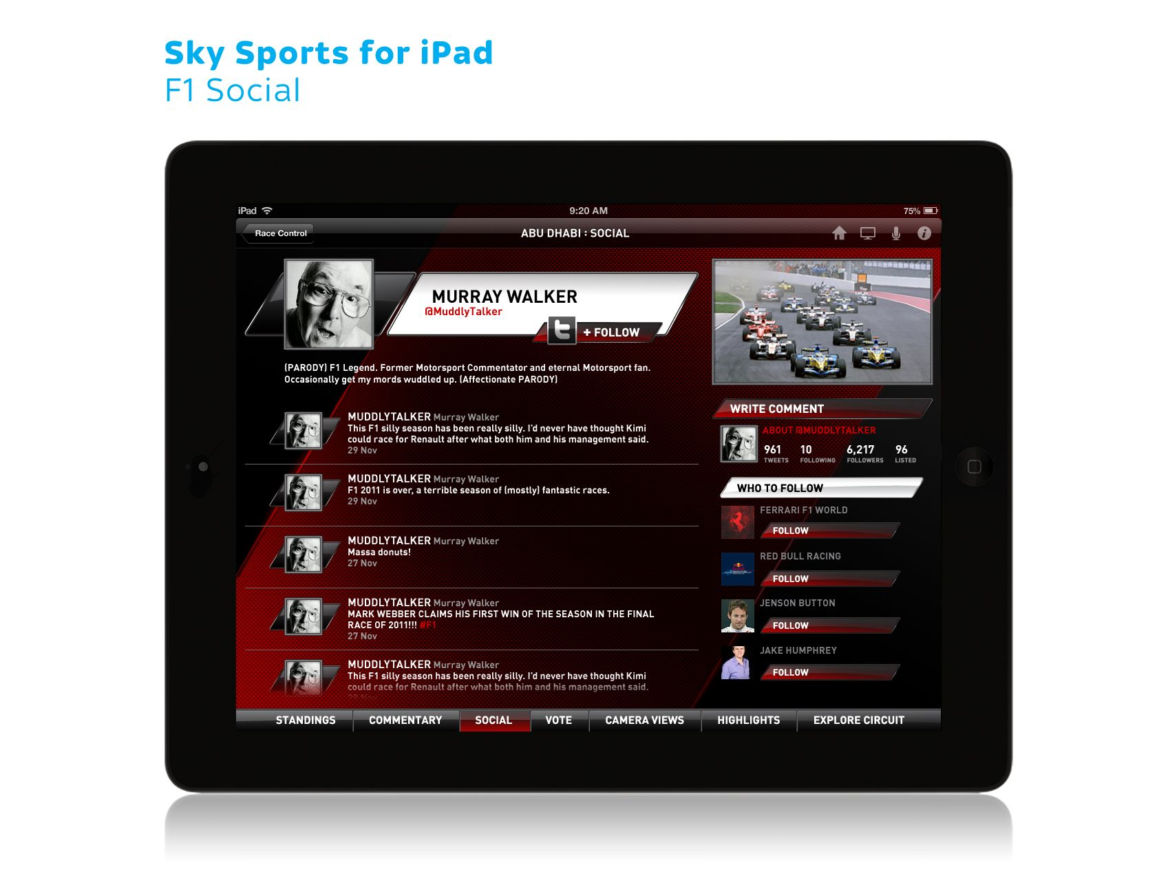 Sky Sports for iPad F1 02 (With images) 10 things, Ipad