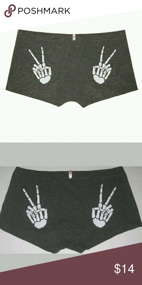 fa6df9ef7d New VS Pink Skeleton Hands Boyshorts Logo Shortie Brand new Victoria Secret  Pink shortie Boyshorts