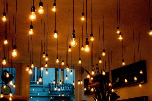 Light Bulbs Hanging From Ceiling By Jewell