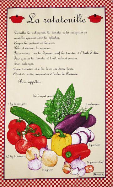 Ratatouille Recipe in French Language | ratatouille by beauvillé ...