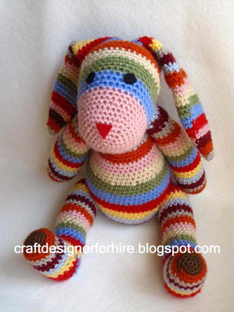 Free Crochet Striped Rabbit Pattern | Amigue uní perrito | Pinterest ...