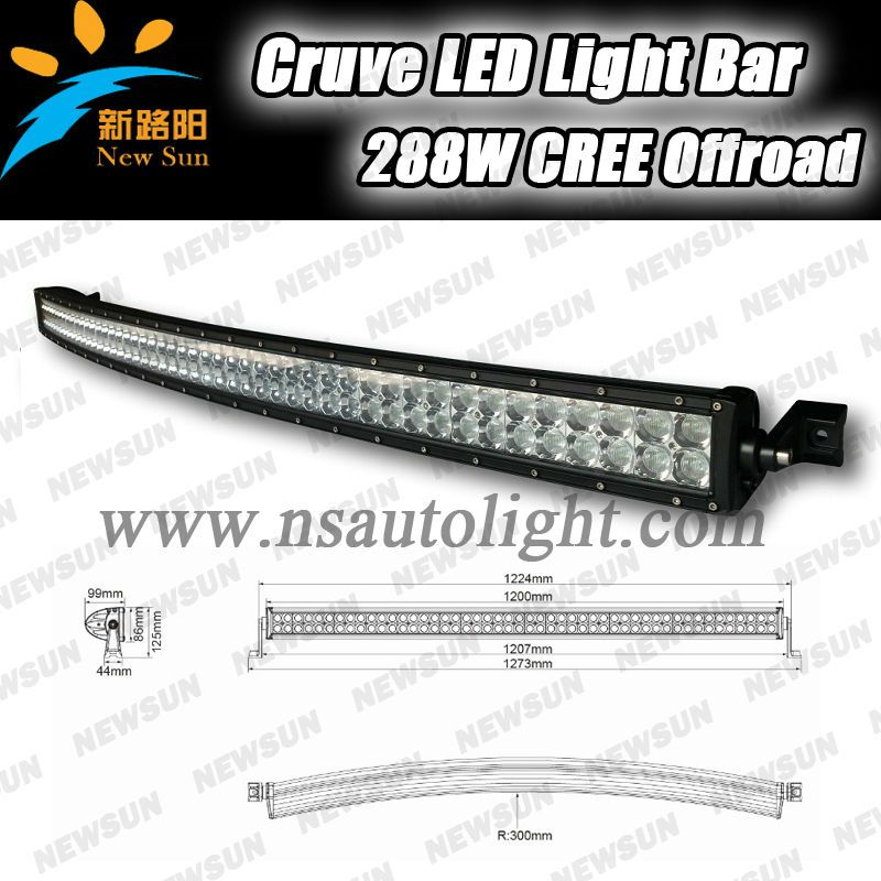 Super new 50 288w radius led light bar curved light baroffroad super new 50 288w radius led light bar curved light baroffroad curved led aloadofball Image collections
