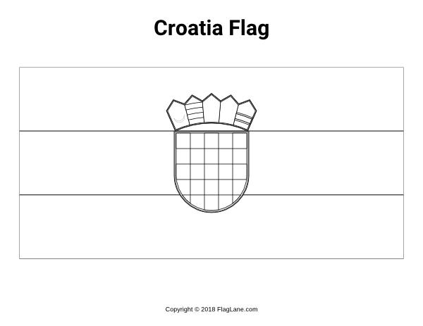 Free printable Croatia flag coloring page. Download it at