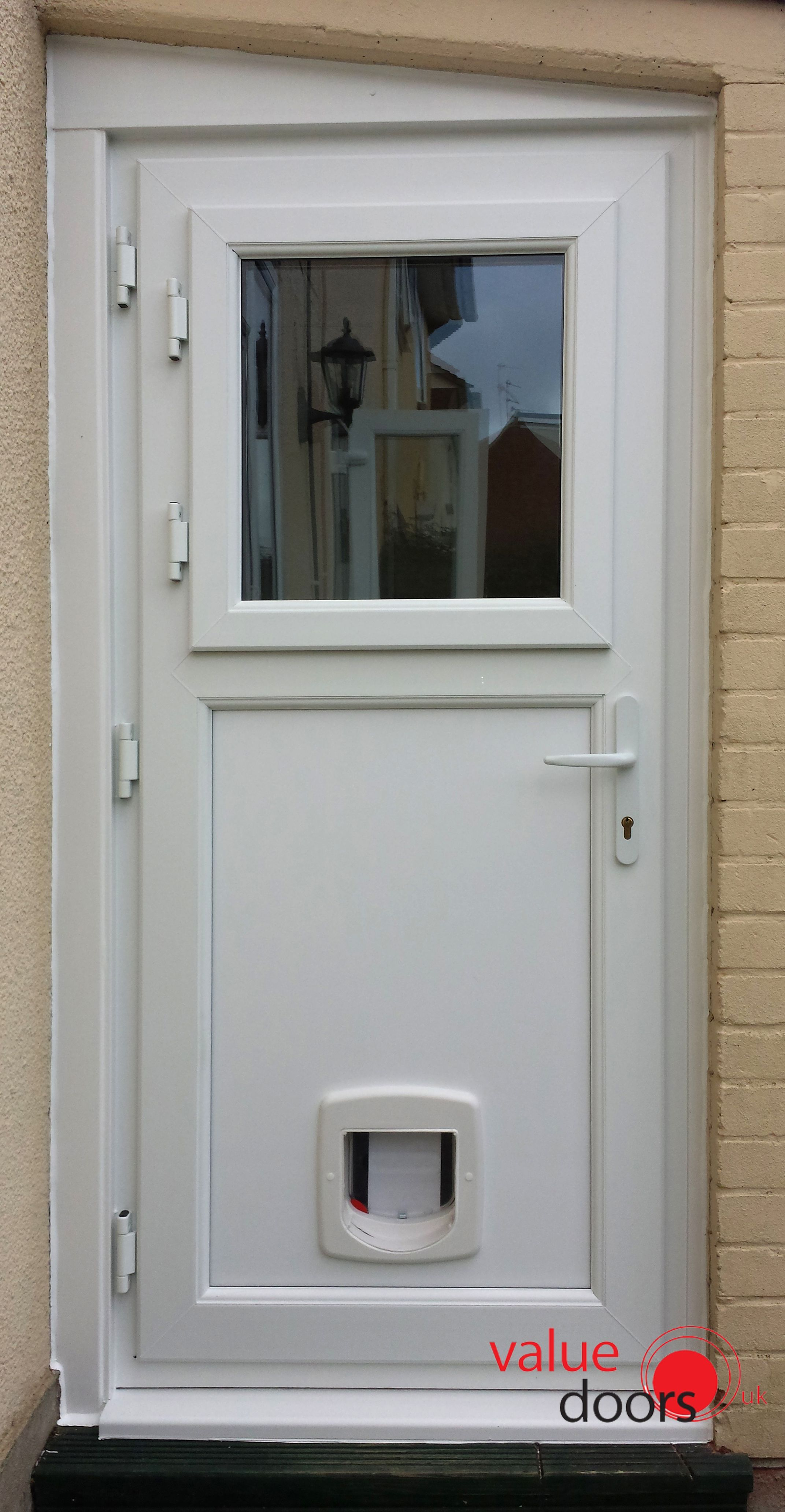 our upvc stable doors can even be installed with a cat flap http