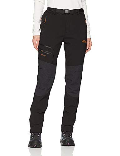 BenBoy Womens Walking Ski Trousers Softshell Winter Fleece Lined Outdoor Trousers Windproof Hiking Pants