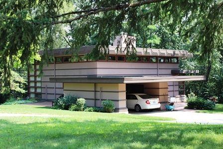 James mcbean house usonian style frank lloyd wright for Frank lloyd wright modular homes